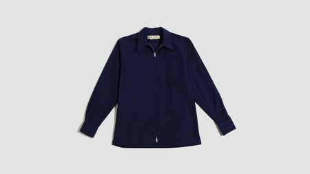 Marni Compact Cotton Twill Shirt - Blue