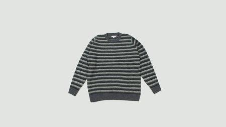 Sunspel Reverse Fair Isle Jumper - Grey/Black/White