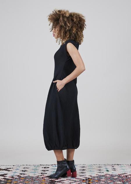 Igor Dobranic Becca Gathered Dress - black