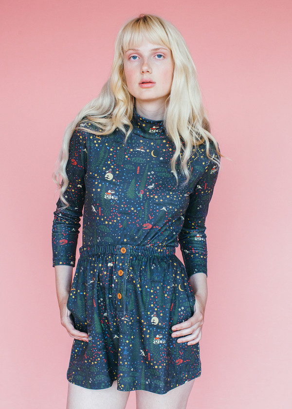 Samantha Pleet Cuddle Skirt - Wonderland Print