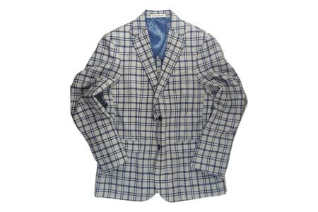 Strong Suit Vanquish Cotton/Linen Blazer - Stone/Blue Plaid
