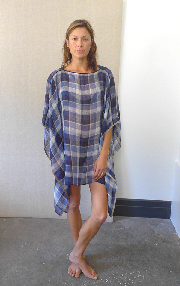Two- New York Handwoven Linen Mid Caftan