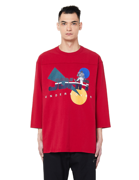 John Undercover Printed L/S T-Shirt - Red