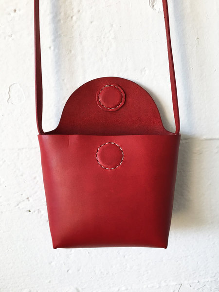Santa Venetia Goods Italian Veg Tan Anni Bag - RED