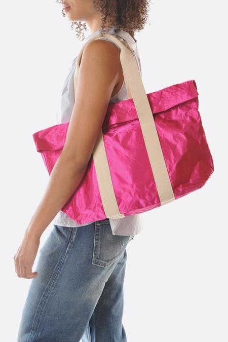 Zilla Satin Big Shopper - Fuschia