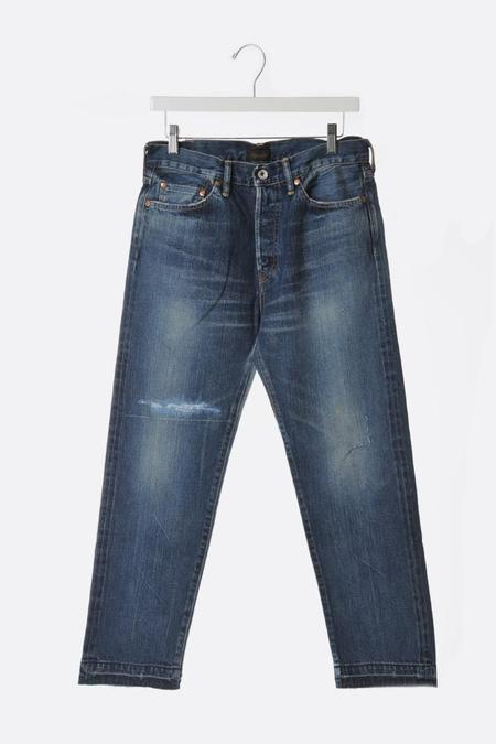 Chimala Selvedge Narrow Tapered Cut Jeans - Medium Distress
