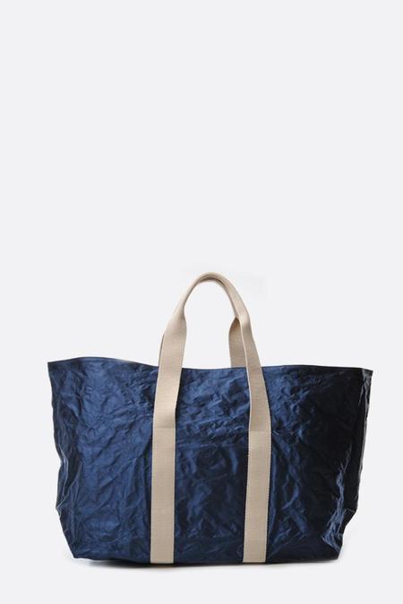 Zilla Navy Satin Beach Bag - blue