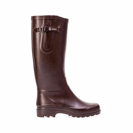 Aigle Aiglentine Rubber Boot - Brown