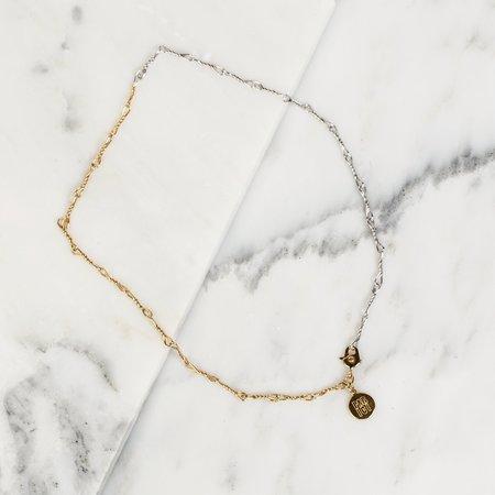 PAR ICI 2Tone Wire Necklace - 22k Gold/Rhodium