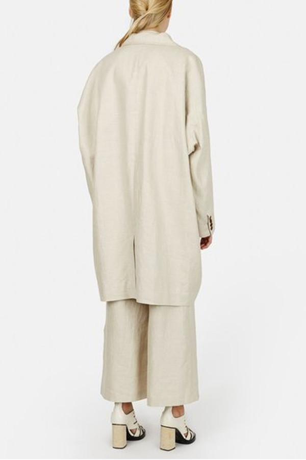 Opening Ceremony Arden Linen Oversized Suit Jacket