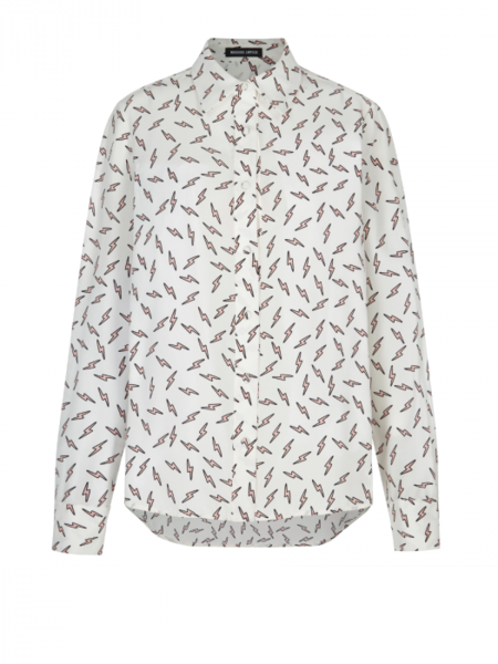 Markus Lupfer Peony Bolt Silk Top - Lightning Bolt