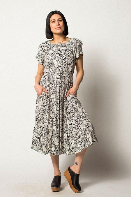 VINTAGE Preservation Dress - Black/White
