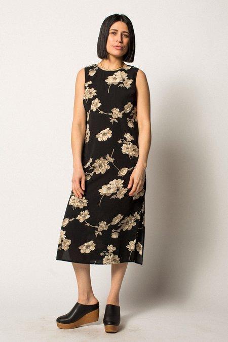 VINTAGE Preservation Floral Dress - Black/White