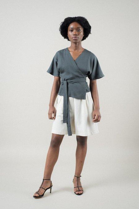 REIFhaus Ramona Wrap Top - Charcoal