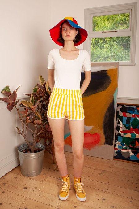 L.F.Markey Shorty Shorts - Sunflower