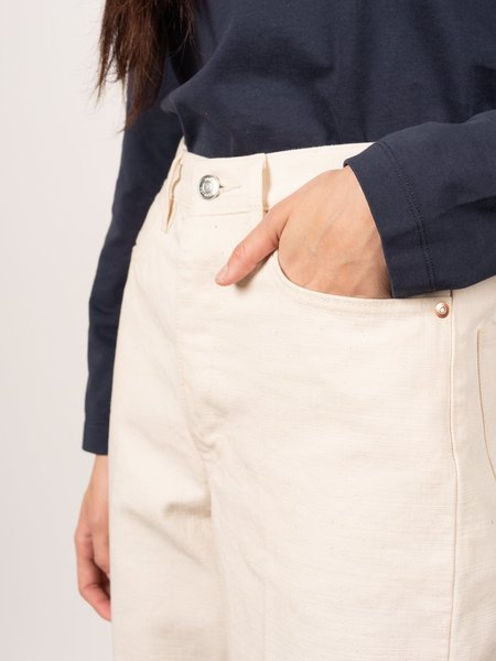 Tanaka Raw Denim Dad Jean Trousers - White
