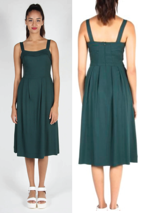Birds of North America Passerine Dress (Forest Green)