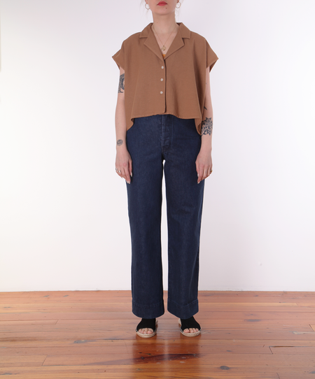 Revisited Edith Shirt - CLAY