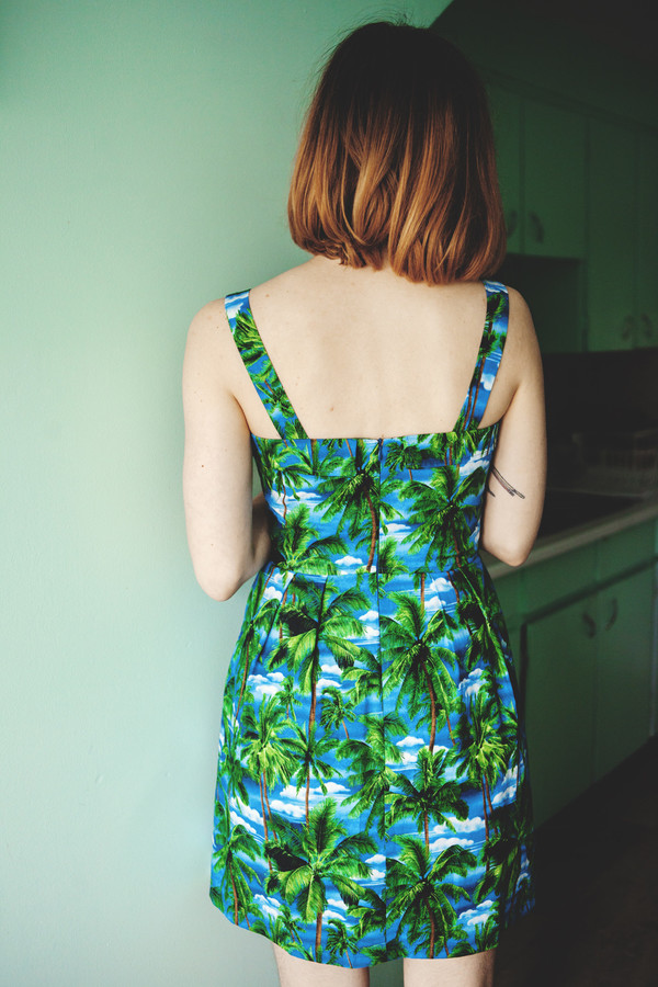 Birds of North America Sylph Dress (Palm Trees)