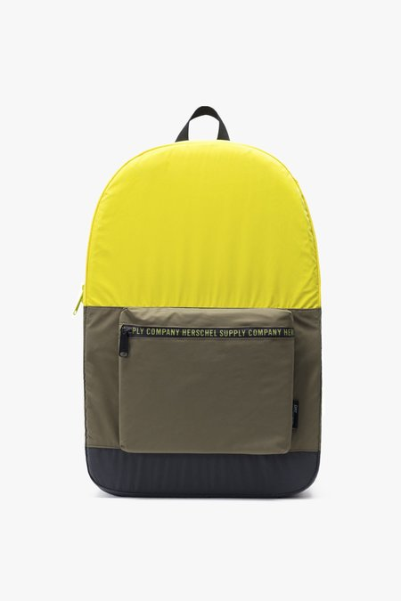 HERSCHEL SUPPLY CO Packable Daypack - Evening Primrose/Black/Silver Reflective