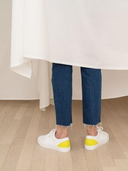 COMME.R Sheepskin Casual Sneakers - Lime Yellow