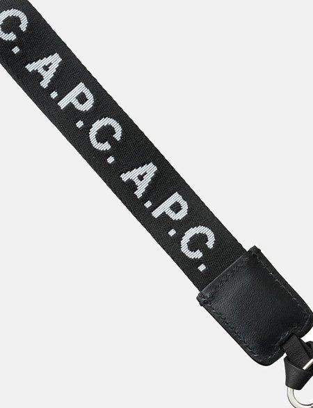 A.P.C. Logo Keyring - Black