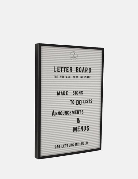 Cubic Letter Board - White