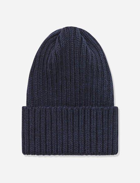 Highland Headwear Highland Wool Rib Beanie Hat - Navy Blue