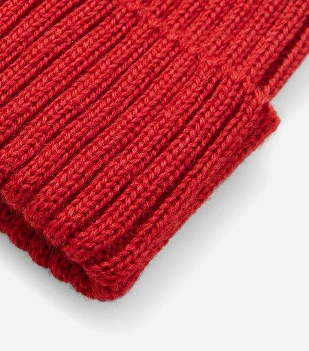 Highland Headwear Highland Wool Rib Beanie Hat - Red