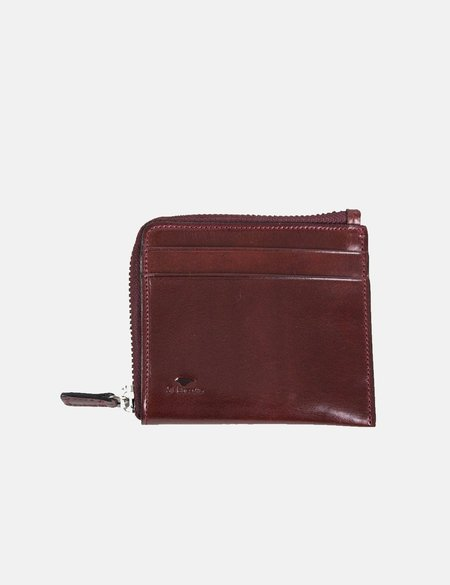 Il Bussetto Small Leather Zip Wallet - Bordeaux Red