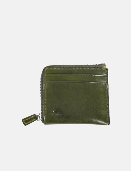 Il Bussetto Small Leather Zip Wallet - Dark Green