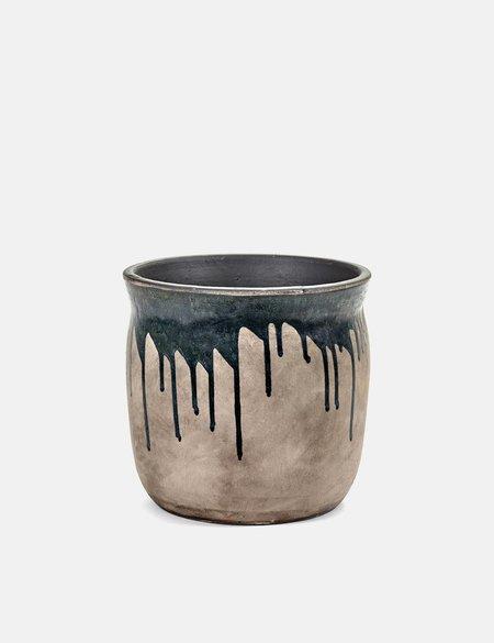Serax Drops Large Pot - Azure/Gold