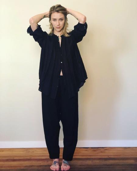 pas de calais Button up blouse - black