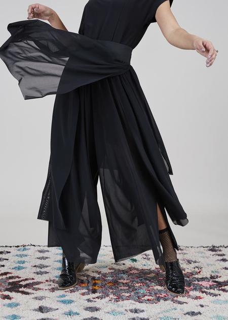 Igor Dobranic Erin Sheer Wide Leg Pant - black