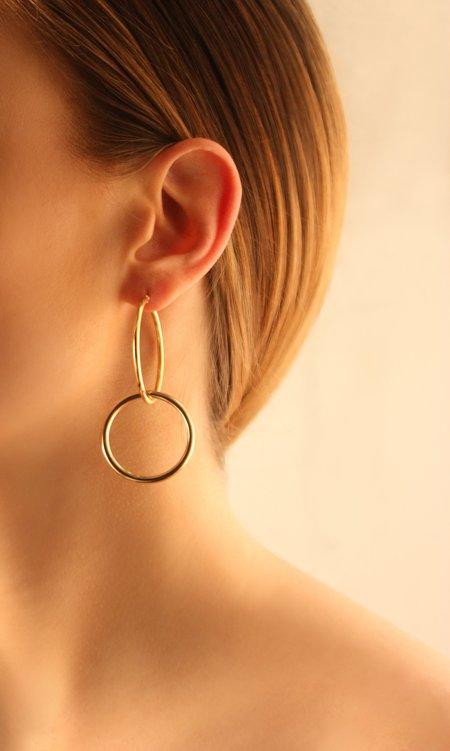 Joomi Lim Medium Double Link Hoop Earrings - Gold