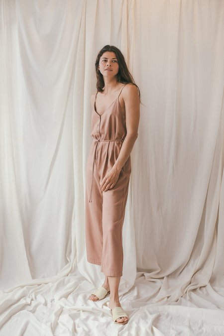 OZMA Silk Noil Cypress Playsuit - Sand