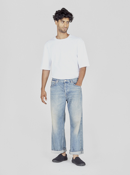 I AND ME Selvedge Wide Leg Jeans - Sun Bleached