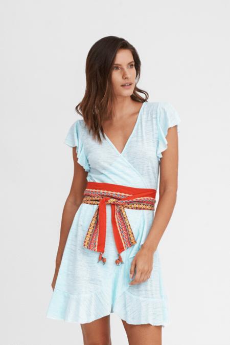 Pitusa Wrap Llama Dress - Aqua