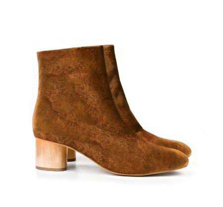 Sydney Brown Low Ankle Boot - Amber Velvet
