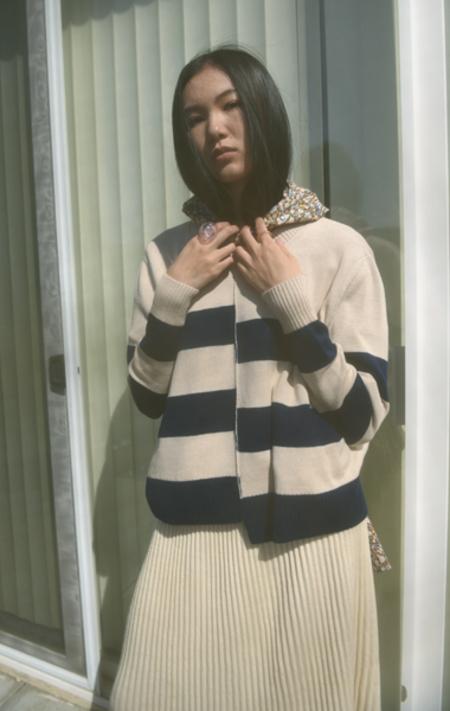A Détacher Kenny Pullover - Cream/Navy Stripe