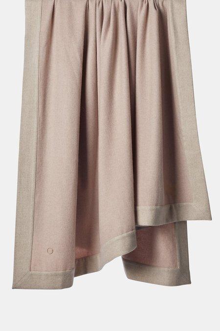 Oyuna Etra Heavyweight Timeless Luxury Cashmere King Size Bedspread - Blush/Beige