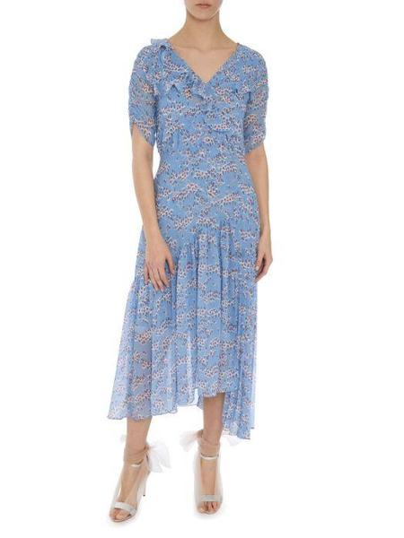 Markus Lupfer Nevada Pleats Ditzy Blossom Dress