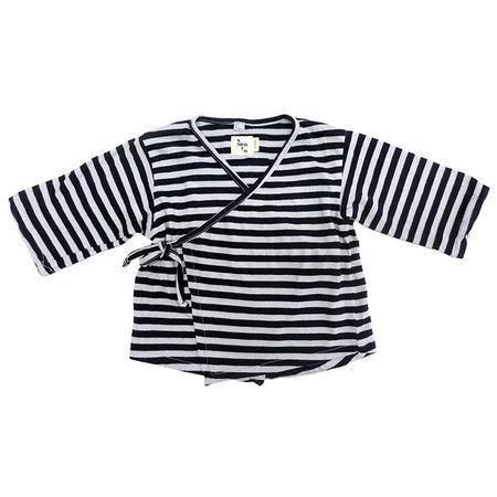 KIDS Nico Nico Kea Striped Kimono Close Shirt - Sky Blue