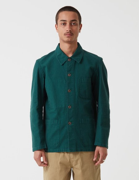 Vetra French Workwear 4 Jacket 5-Short in Twill Cotton - Bottle Green