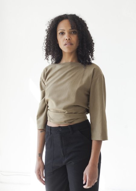 Ozma Reversible Crossover Top - Olive