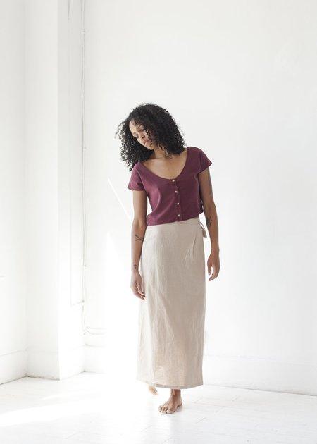 Ozma Venice Wrap Skirt - Dusk