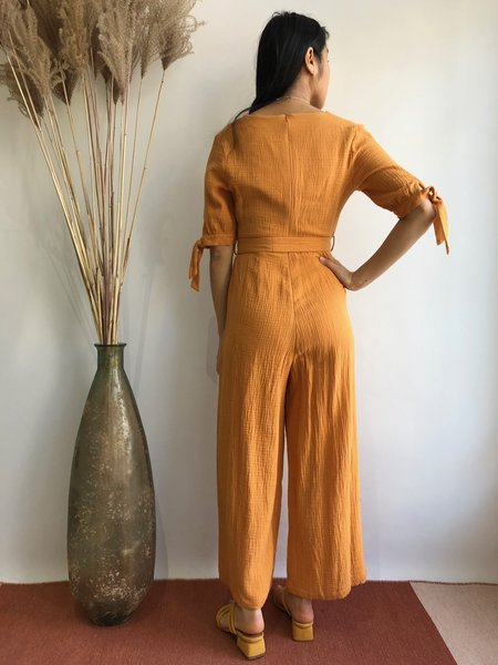 PEPALOVES CLAIRE PLAYSUIT - MUSTARD
