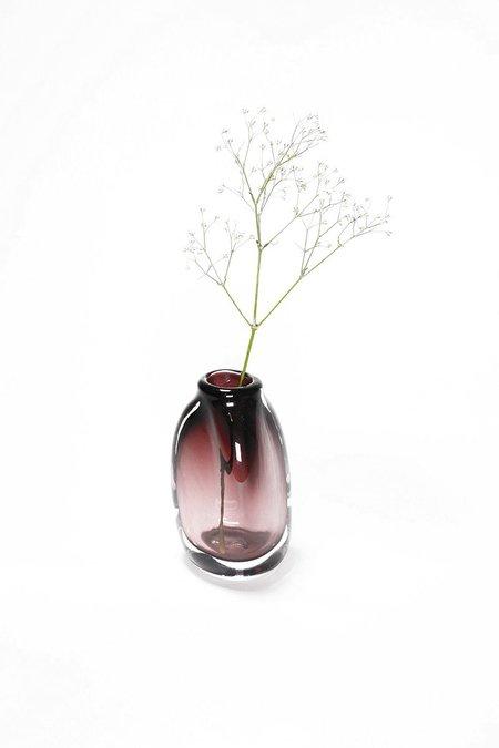 Bale Fire Glass Short Suspension Vase - Aubergine