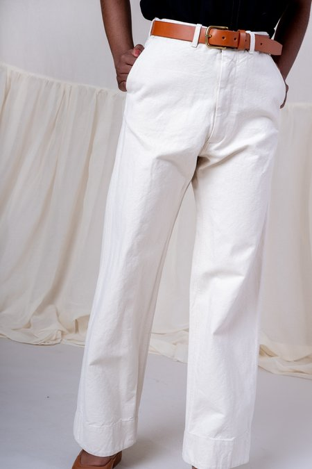 Caron Callahan canvas GREENE PANT - CREAM