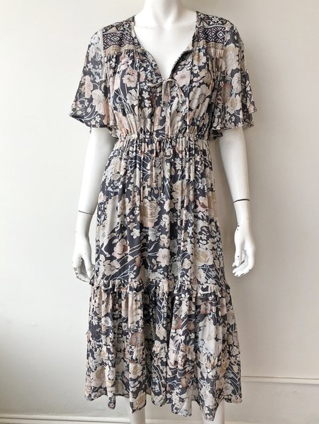 SPELL & THE GYPSY COLLECTIVE Amethyst Garden Party Dress - Nightfall